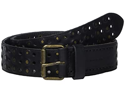 AllSaints 38 mm Perf + Covered Sanded Studs (Black) Men