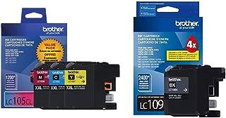 Brother Genuine LC1053PKS Super High Yield XXL Ink Cartridges,Cyan, Magenta, Yellow & Printer Ultra High Yield Inkjet Cart...