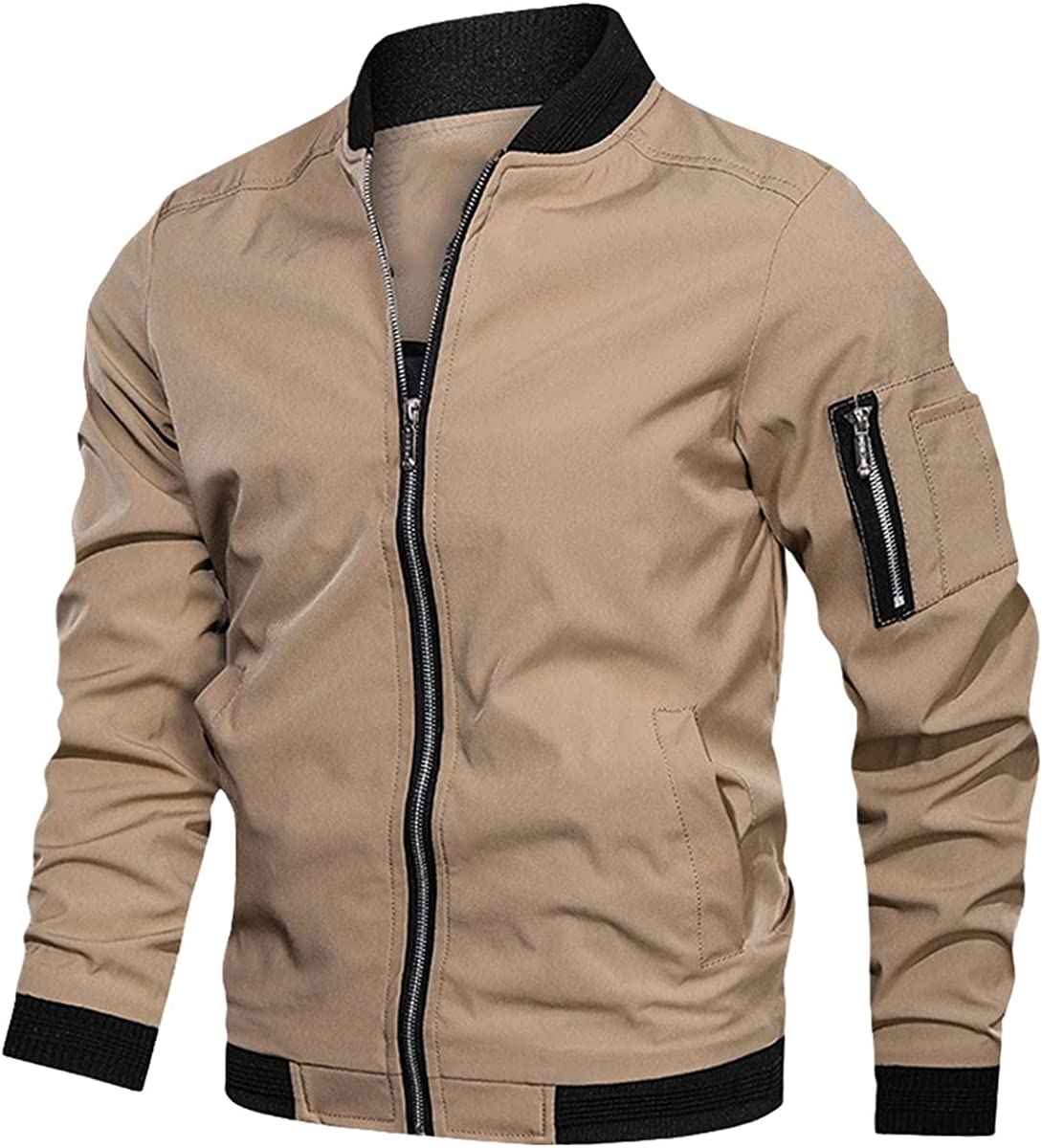 Men's Jackets And Coats Bomber Jackets Spring And Autumn Fashion Military Uniform Outdoor Clothing