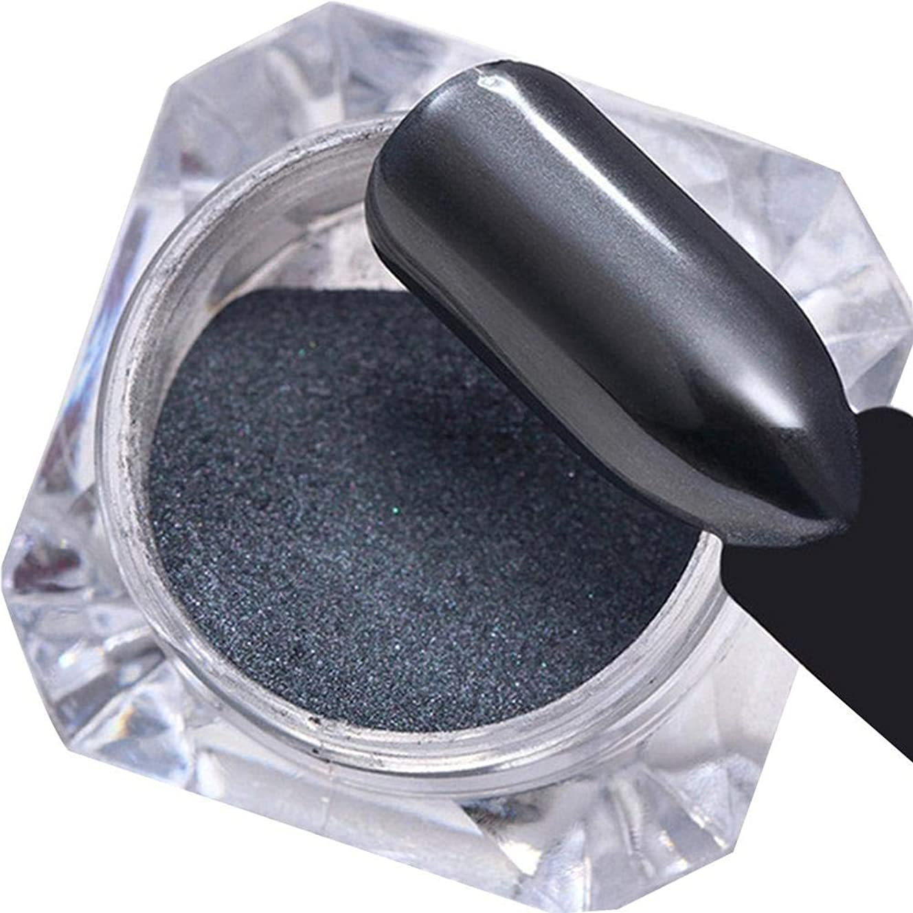 出血礼儀迅速ミラーパウダー ネイルアートパーツ ネイルパウダー ネイルデコレーション ミラーネイル グリッターパウダー 美しい 人気なマニキュアセット ブラック junexi