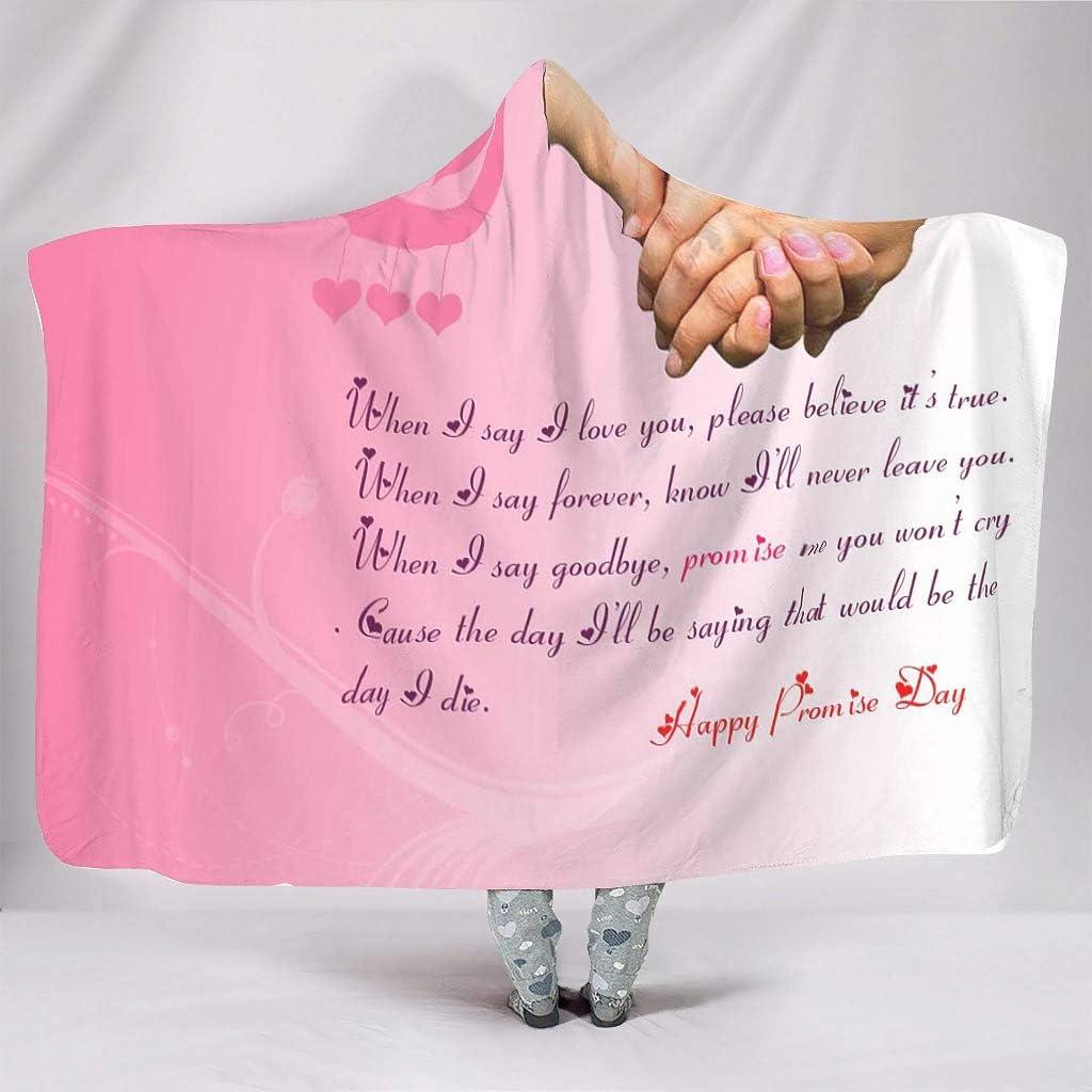 Loveyoudaily Hooded Blanket Popular standard Happy Promise Day mart Blank Hoodie Plush