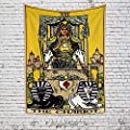 OFila Tarot Tapestry Vintage Style Colored Tarot Card The Chariot Upright Tapestry Mysterious Medieval Europe Divination Wall Hanging Tapestry for Home Bedroom Living Room Dorm Decor 59.1x78.7 Inch