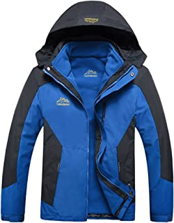 Modern Fantasy Mens Outdoor 3 in 1 Detachable Warm Inside Multifunction Jacket