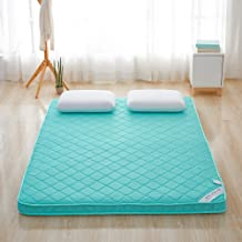 4D Breathable Soft Mattress Environmental Thick Warm Foldable Single or Double Home Mattress Topper,Green,0.9 * 2m