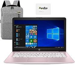 2020 HP 14 inch HD Laptop, Intel Celeron N4000 up to 2.6 GHz, 4GB DDR4, 64GB eMMC Storage, WiFi 5, Webcam, HDMI, Windows 1...