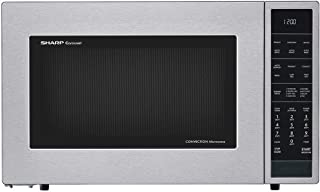 Sharp SMC1585BS Carousel 1.5 Cubic Foot 900W Kitchen Countertop Convection Microwave Oven, Stainless Steel (Renewed)