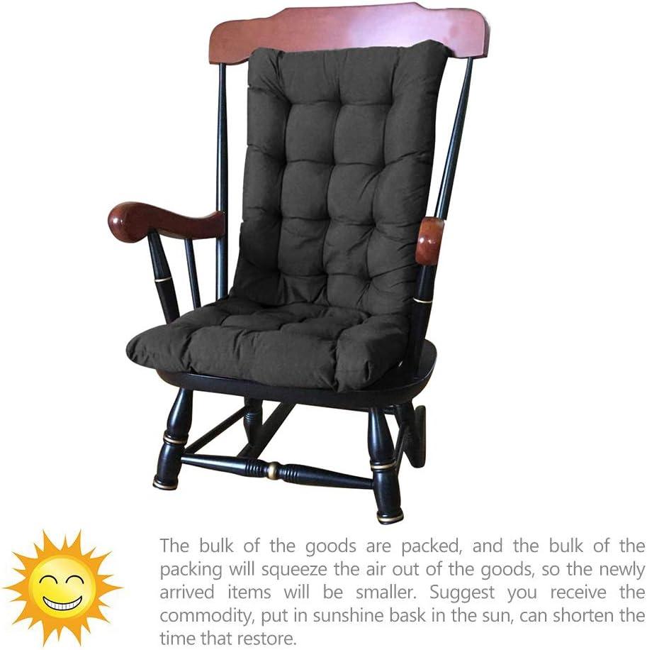 Bleu Coussin Chaise de Jardin Dossier Haut 120 x 50cm Coussin Chaise Jardin pour Chaise Fauteuil Jardin Ext/érieur