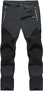 TACASEN Men's Work Trousers Lightweight Outdoor Waterproof Trousers Walking Hiking Trousers with Zipper Pocket