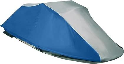 Leader Accessories 600D Polyester Ready Fit Jet Ski PWC Cover Kawasaki (STX 12F 2003 2004 2005 2006 2007;STX 15F 2004 2005 2006 2007 2008 2009) Grey/Navy Blue