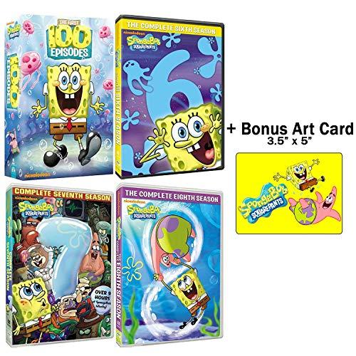 SpongeBob SquarePants: Complete Seasons 1-8 DVD Collection with Bonus Art Card
