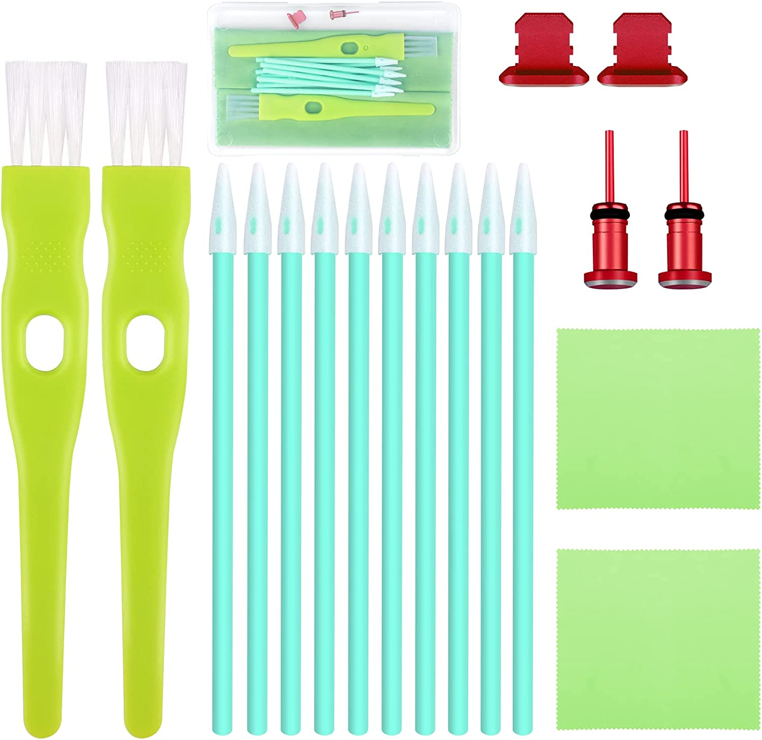 ADXCO 19 Pieces Ranking TOP2 Cell Phone Cleaning USB Charging 40% OFF Cheap Sale P Kit Brush Set