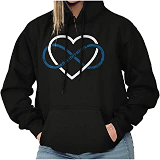 Blue Lives Matter Infinity Line Police Hoodie