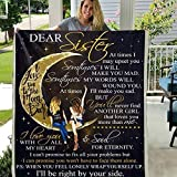 Dear Sister at Times I May Upset You 3D Pattern Custom Fleece Photo Blanket Fan Gift (X-Large 80 X 60 INCH)