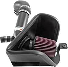 K&N Cold Air Intake Kit with Washable Air Filter: 2015-2019 Volkswagen (Arteon, Golf, Golf R, Golf SportWagen, GTI, Golf Alltrack) 2.0L L4, Black Metal Finish with Red Oiled Filter, 69-9506TTK