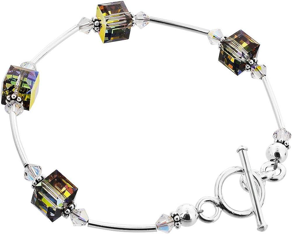 Colorado Springs Mall Gem Avenue Cube Shape Swarovski Elements Alternative dealer inc 7.5 Vitrail Crystal