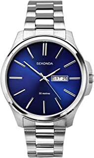 Sekonda Men's SK1224 Year-Round Analog Quartz Silver Watch