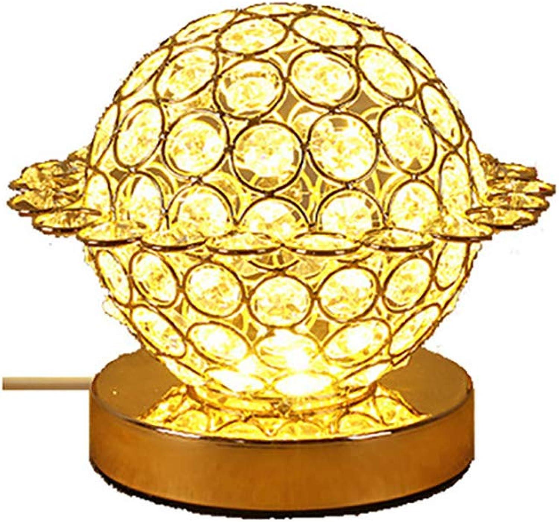 YTRD Led Kristall Schreibtischlampe, Schlafzimmer Kristallkugel Nachtlicht, kompaktes Design Lampen geeignet für Zuhause, Schlafzimmer, Wohnzimmer, Esszimmer