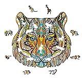 GUO Puzzle De Madera Rompecabezas con Forma De Animal Tigre Adecuadas para Juegos Que Mejoran La Capacidad De Pensamiento