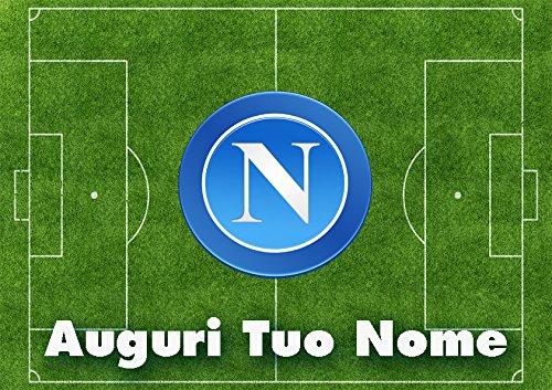 Partycolare Cialda per Torta Campo Calcio Stemma Napoli - da Personalizzare - napoli001