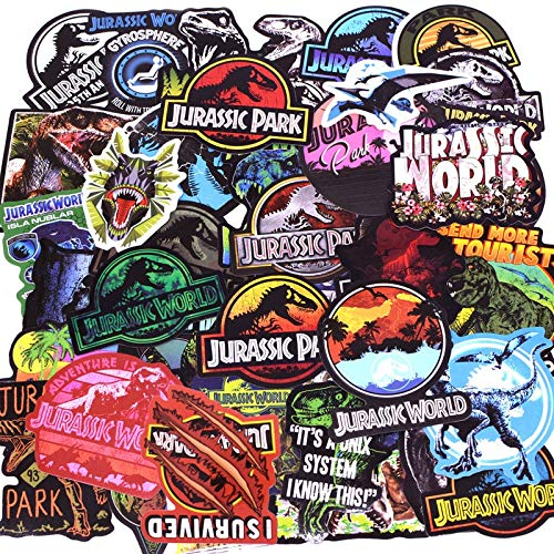 PMSMT 75 unids/Pack Jurassic Park Dinosaurio Pegatinas niños Juguete Graffiti Pegatina para Equipaje portátil monopatín Moto Coche Pegatina Impermeable