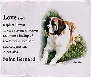 CafePress Saint Bernard Gifts Soft Fleece Throw Blanket, 50