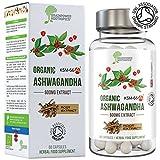 Ashwagandha bio KSM66 | capsule da 600 mg | Certificata Soil Association | 5% witanolidi (30 mg) | Vegan, senza glutine, Halal, Kosher