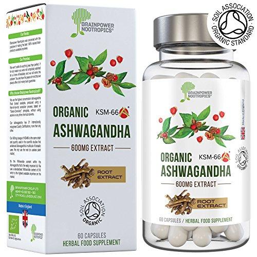 Ashwagandha bio KSM66   capsule da 600 mg   Certificata Soil Association   5{0fa884717982626a9ecd72b8c82d4ec0fb995af353d4c369d2c2d1a8e6ed6643} witanolidi (30 mg)   Vegan, senza glutine, Halal, Kosher
