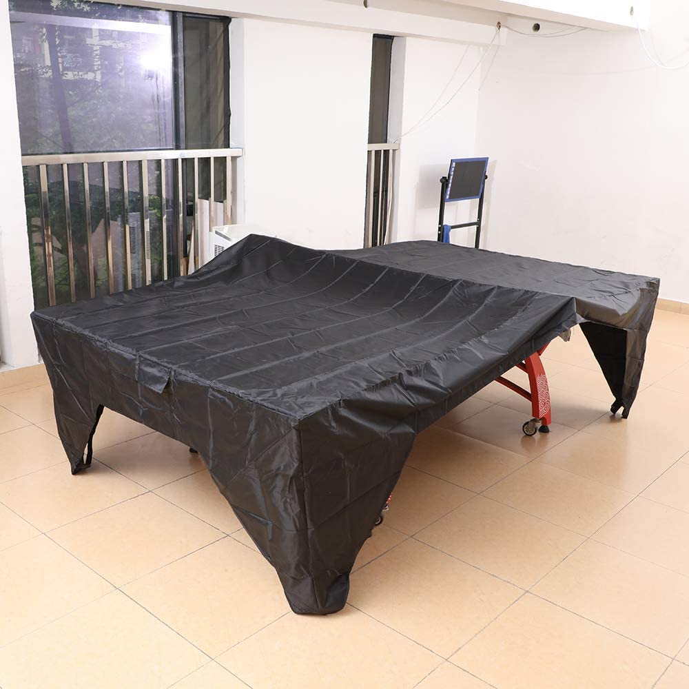 SHINYEVER Ping Pong Table Cover - Table Tennis Cover Sun Proof, Rain Proof, Dust Proof for Indoor or Outdoor (2020 Upgrade) (Black) : Sports & Outdoors