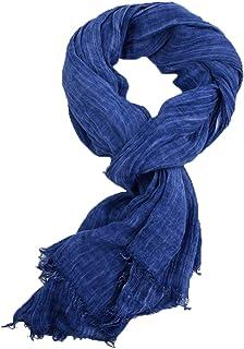 Runtlly Men's Soft Lightweight Scarves Warm Crinkle Fashion Warm Autumn Winter Scarf