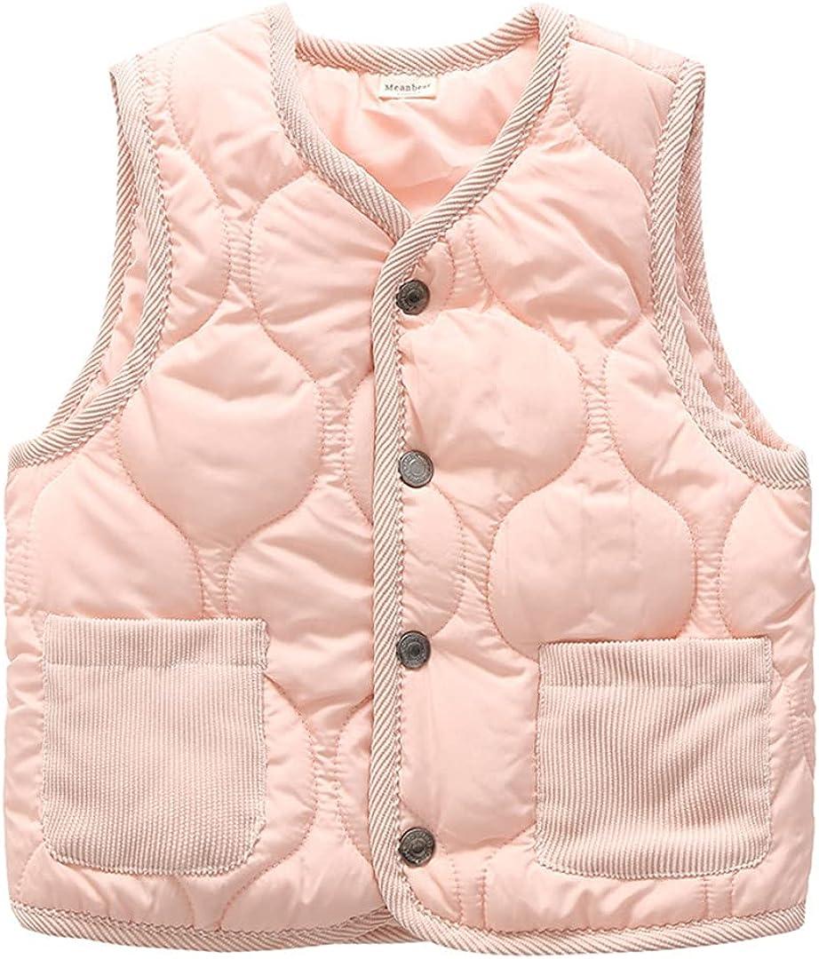 GHURFNP Girls Warm Winter Waistcoat Kids Outerwear Sleeveless Jackets