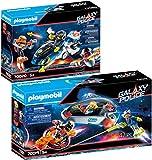 PLAYMOBIL Galaxy Pirates Set de 2 Juegos 70019 70020 Policía Planeador + Policía Moto