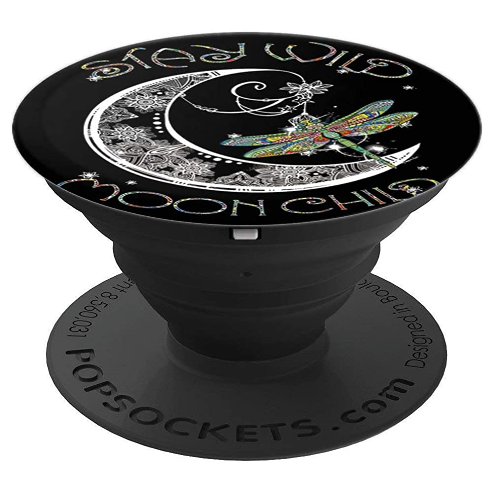 Stay wild moon child moon dragonfly - PopSockets Grip and Stand for Phones and Tablets