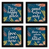 Interio Crafts Set of Inspirational Framed Quotes for Home Wall Decor, Motivational Framed