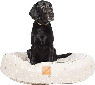 MOG & BONE 4 Seasons Reversible Dog Bed Oat Metallic Crss Med