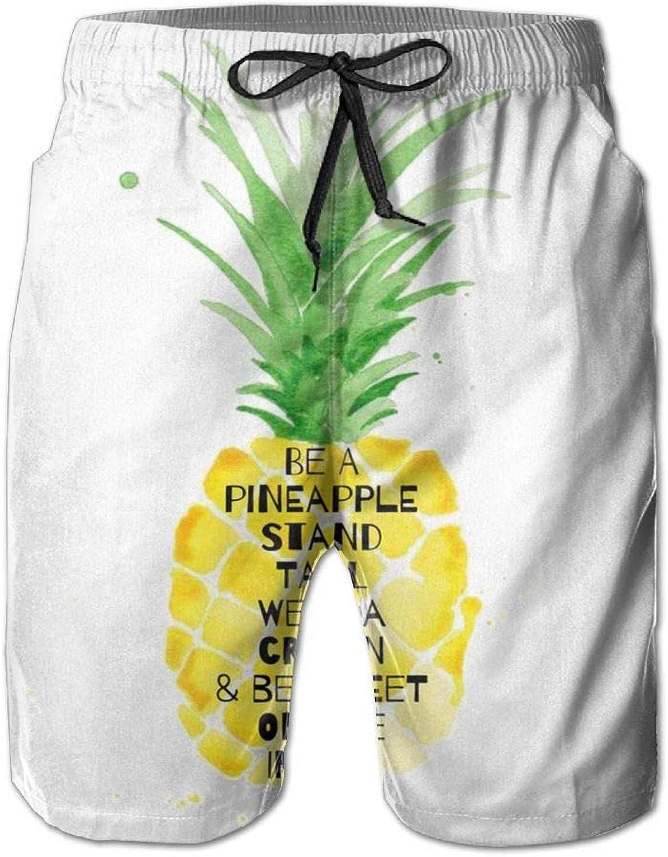 dc9c442f3d JF-X JF-X JF-X Pineapple-Island Men's Beach Surf Shorts Board Shorts ...