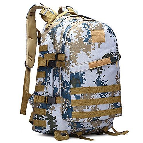 Ishop Sport Outdoor tactique Sacs à dos, sacs à dos d'assaut militaire Armée Combat Molle Sac à dos camping randonnée Trekking Sac Lot Sac à dos 40L L Color 14