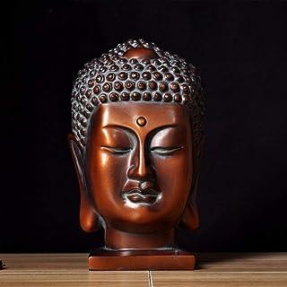 仏胸像、瞑想彫刻エレガントなアートの装飾樹脂家の装飾アンティークデスクトップの装飾手作りの置物-18x14x27cm(7x6x11inch)