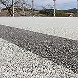 Steinteppich Set Dunkelgrau Bindemittel Epoxidharz - Grigio Carnico 25kg plus Epoxid Bindemittel, bis 2,5qm - 5