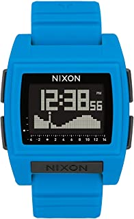 NIXON Base Tide Pro A1212-100m Water Resistant Men's Digital Surf Watch (42mm Watch Face, 24mm Pu/Rubber/Silicone Band)