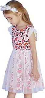 Girl Summer Party Dress Floral Tulle Plaid Outfits Formal Chiffon Flower Girl Dresses Baby to Big Girl 1-12Y
