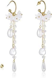 KRUCKEL Peach Blossom Flower Dangle Earrings - 7079161