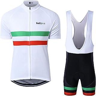 logas Magliette Bici Uomo Estivo Maglia Ciclismo Manica Corta con Tasche Posteriori Camicia MTB Traspirante
