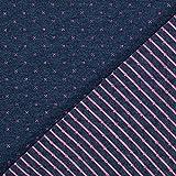 Doubleface Jersey Stoff – marineblau — Meterware ab