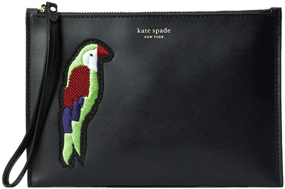 kate spade embroidered Parrot Italian Leather small wristlet wallet (Compatible with all iphones)