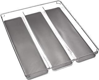 Range Couverts 3 Compartiments - Organiseur pour Tiroir de Cuisine – Résistant Durable Ecologique (40 x 32 cm)