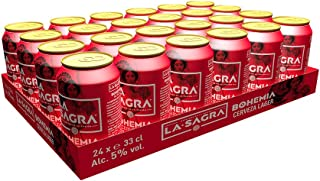 La Sagra Bohemia Cerveza Lager estilo Pilsener -pack 24 latas x 330 ml - Total: 7920 ml