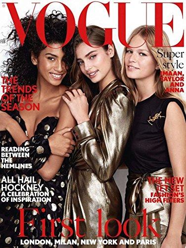 Vogue UK Magazine (February, 2017) Imaan Hammam Taylor Hill Anna Ewers
