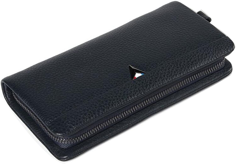 JIANFCR Men's Clutch Bag  Business Leather Clutch Bag  Premium Leather Men's Bag  Soft Leather Card Case Multifunction Wallet Clutch