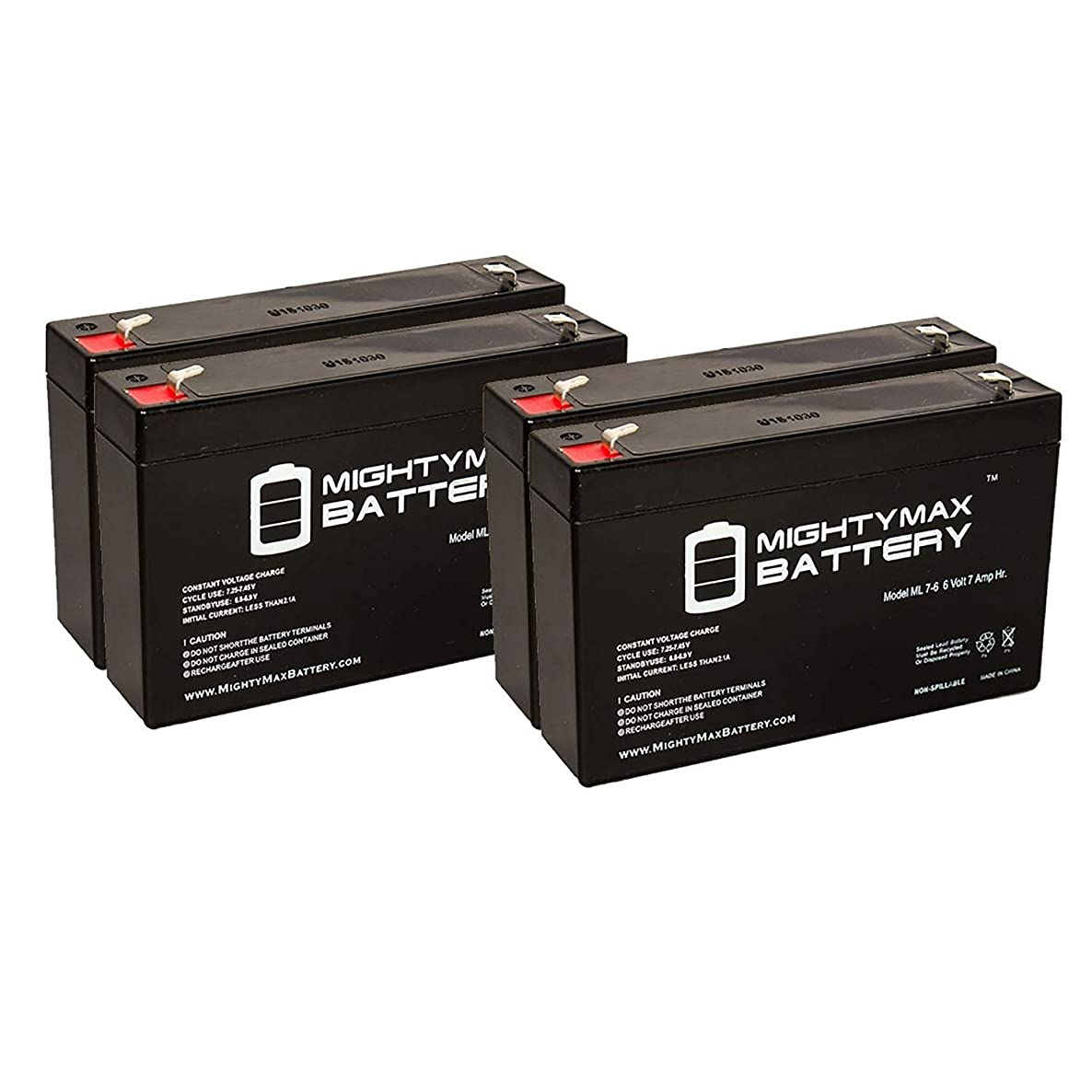 Mighty Max Battery 6V 7Ah SLA Battery Replacement for Leoch LP6-7.0, LP 6-7.0 - 4 Pack Brand Product