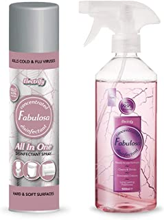 FABULOSA Disinfectant Spray Electrify (Ysl Black Opium)400 ml + Antibacterial Electrify (Ysl Black Opium) 500 ml